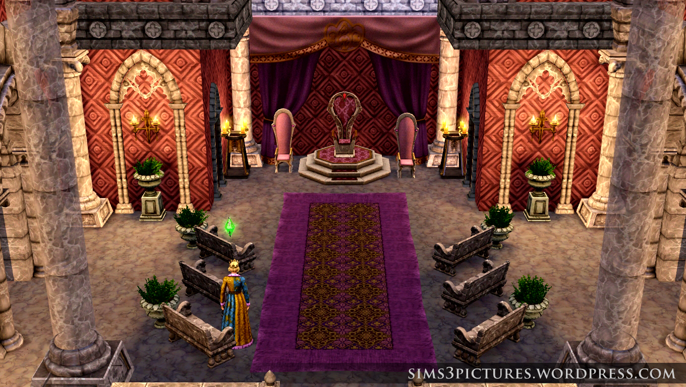 Pink Throne Room | Sims 3 Pictures