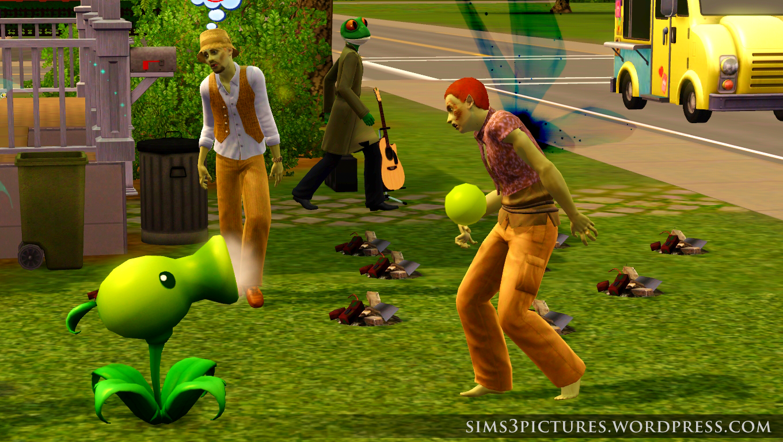 Plants vs.Zombies Sims 3